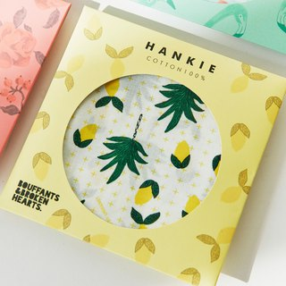 7321 Design summer cotton square handkerchief v3-BBH lemon tree, 73D73228