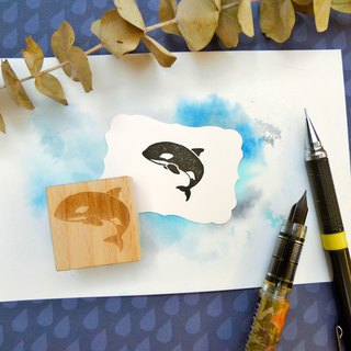 Killer Whale Rubber Stamp
