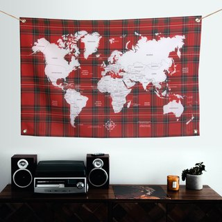 Customized world map hanging wall niche college wind