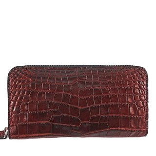 Crocodile Antique Zip Around Wallet