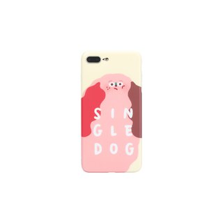 Single dog Original design Pink Girl Cartoon Ugly Cute Funny Illustration Creative Mobile Shell Cover