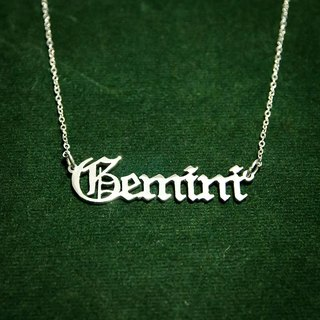 Custom name necklace with Old English font stlye
