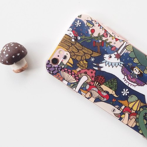 The flying rabbit dream mushroom garden all-inclusive soft shell protection sleeve / / iphone7 mushroom / customizable