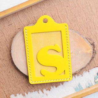 Initial letter S letter certificate set well stitched leather material package card holder business card holder free engraving