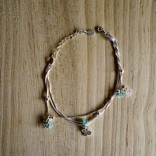 925 silver bracelet - sea blue treasure light bracelet