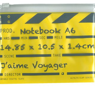 Director Clap journal jotter A6 - Yellow