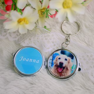 Graduation Ceremony - Photo/Text Custom Mirror Keyring (Round) - Couples/Family/Pets