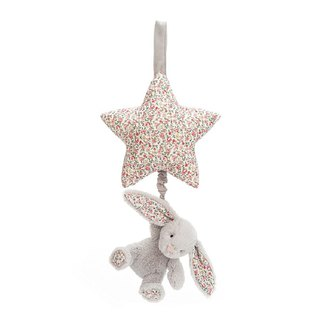 Jellycat Musical Pull Blossom Silver Bunny