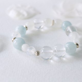 Blue Lake - Aquamarine White Crystal Moonstone bracelet bracelet bracelet light blue pink blue