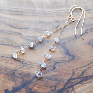 HYKIMER Diamond Crystal Earrings from NY no.2 14 kgf