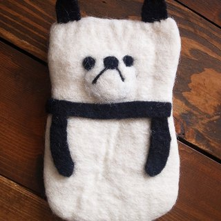 felt dog case, felt case, custom case, handmade iPhone sleeve, Iphone bag
