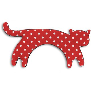 Soothing neck and neck heat pack / cold bag - cat style (red white point)