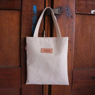 Leather film / green tote bag / beige