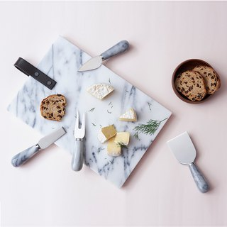 Marble tray cutlery set