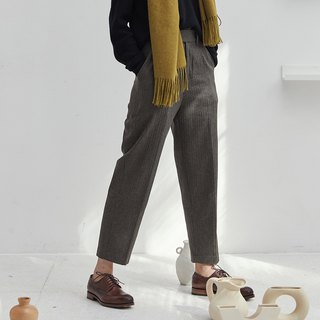 Vintage moss green muscle wool is thin and very wide suit pants slim slim loose casual long pants