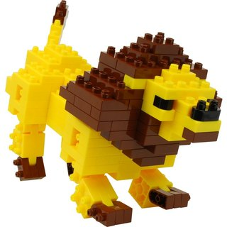 """JEKCA plot card Variety building blocks"" animal building blocks (lions)"