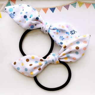 Polka dot group of bow hair accessories a group of 2