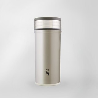 Swanz Porcelain Tumbler Glisten Collection-Pristine Silver