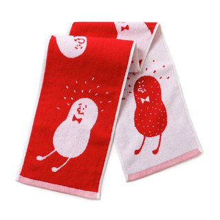 Good things peanuts! Red models / narrow version of sports towel