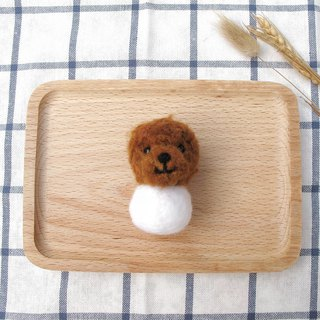 Needle Felt Animal Pet Poodle Snowman