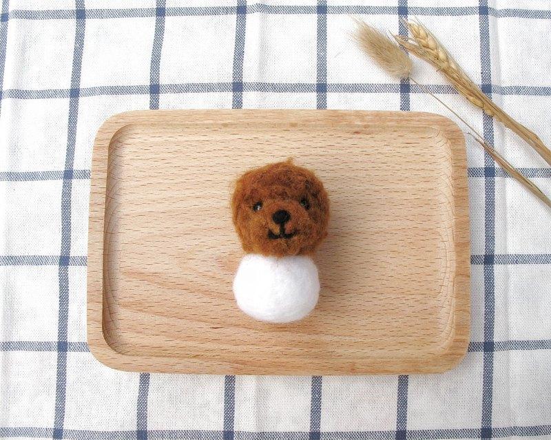 羊毛氈 球型 動物 寵物 雪人 狗狗 貴賓狗