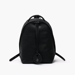 Bodhi says FOSTYLE first layer cowhide leather new basic backpack pure black original design simple wild shoulder bag