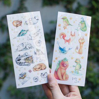 Duga&Hook Fantastic Creature and Hook Sticker Set of 2 Combinations