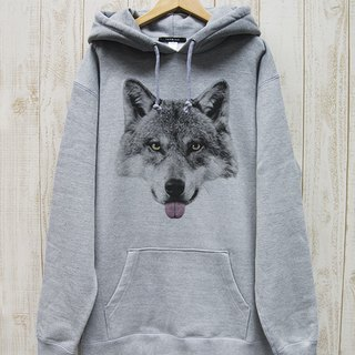 ronronWOLF BIG HOODIE Beh (Heather Gray) / RBP 003 - GR