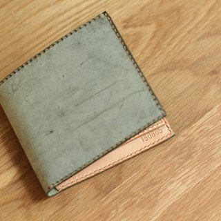 Make Your Choicesss handmade Italian leather tri-fold wallet