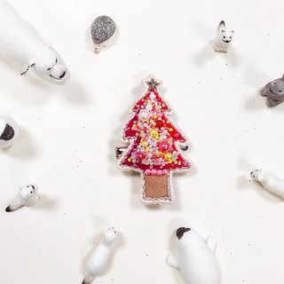 Koko Loves Dessert // I sell you youth - Merry Christmas Pin brooch (Pink Tree)
