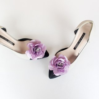 Decorative Violet flower Bridal Shoe Clips  for Wedding Party