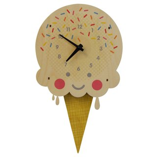 modern moose-3D clock-ice-cream-pendulum-clock