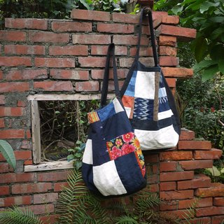 ■ ■ foreign Ga earth creative hand-woven cotton Patchwork big bag full of vegetable dyes