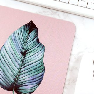 Botanical Leaf Mousepad Pink Office Decor Accessories