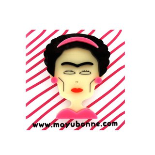 Frida Kahlo Acrylic Brooch Pin