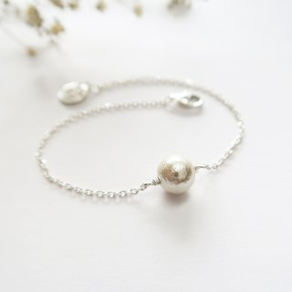 925 Silver Japanese Cotton Pearls-Customer-designed Alphabet Bracelet