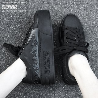 OUTER SPACE dark flame platform shoes