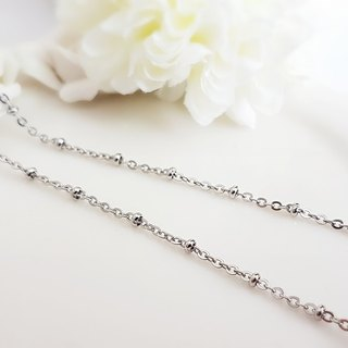 Belle blossoming 2.2mm small round ball steel chain single chain long chain 42/45/55/65/75/85 cm