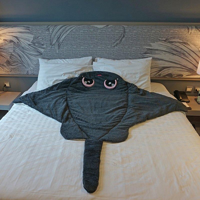 鬼蝠魟造型睡袋