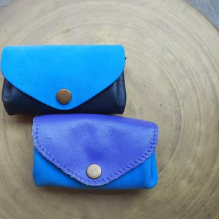 Three-layer fan-shaped coin purse / leisure card package - blue series