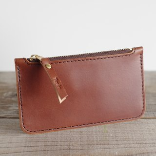 Nume leather key pouch (key case) Brown