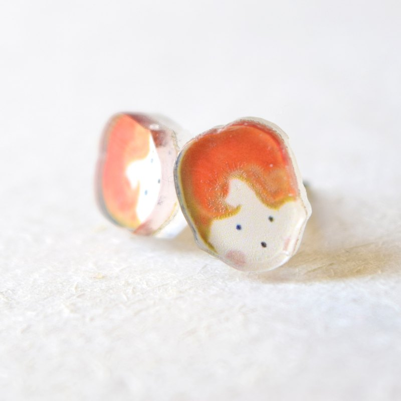 Boy Studs - Clip-on earrings - Little Earrings - Cute Earrings