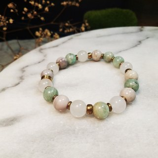 ▲ cat mint / natural stone bracelet