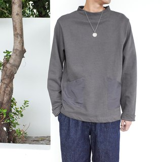 Japanese matching autumn and winter must-have half-high collar sweater solid color wild basic loose section sweater
