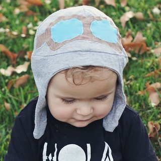 Mondo Rotondo [Italian] small pilot cotton cap (6-12 months, 1-3 years old)