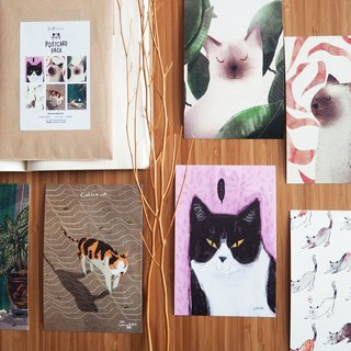 "Postcard 4x6"" cat set#2/3 6 pcs."