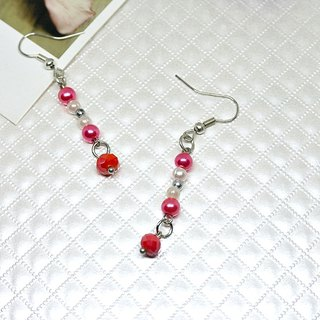 Alloy * Bead powder * _ hook style earrings