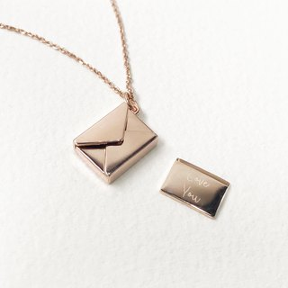 Letter Envelope Necklace | Personalize Gift Custom Gift