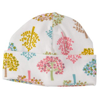 100% organic cotton tree colorful baby hat (6-12m) Spring is reported to the UK for manufacturing