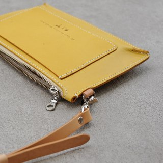 Be Two ∣ Yellow vegetable tanned leather hand bag / side back / shoulder / small bag / carry bag (limited color)